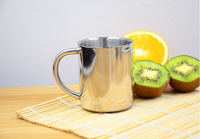 220ml stainless steel double wall coffee cup with handle