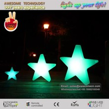 Elegant luminous plastic star / indoor led lighting party decorations for sale
