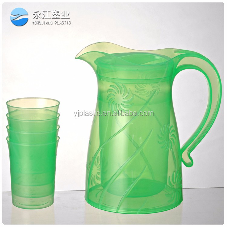 wholesale water jug with spigot 2.5l round enamel kettle teapot plactic oil jug