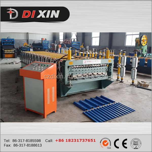 aluminum painted metal roof panel roll forming machine