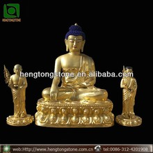 Brass Sitting Buddha with Children Statue for Sale