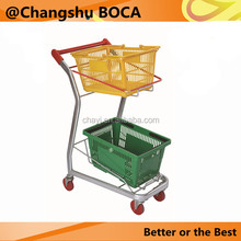 F-8 double baskets convenience shopping trolley