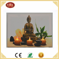 buddha decorative wall art with LED light home goods wall art canvas painting
