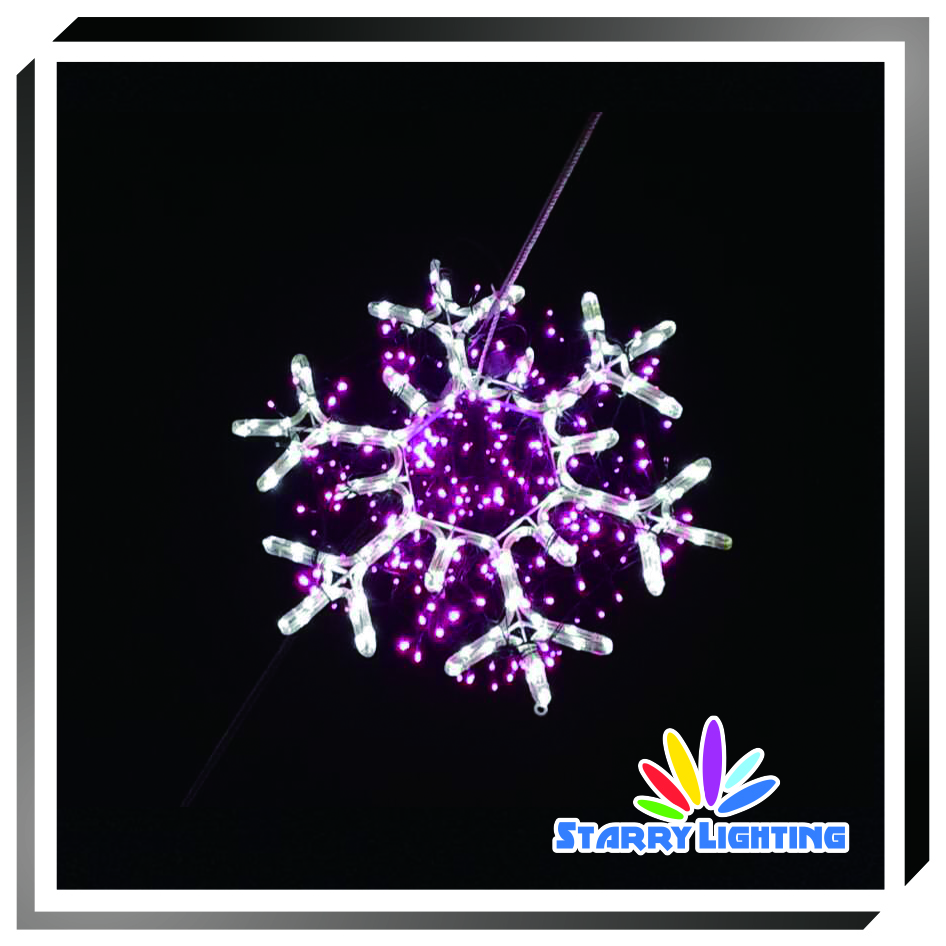 2D hanging decoration snowflake, Lighted Christmas Snowflake
