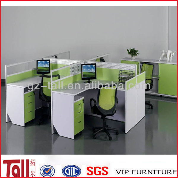 modern design furniture computer table 4 seats office workstation TL-PT1202