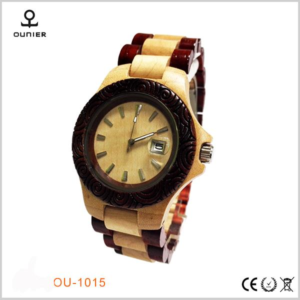 Design your own watch with high quality customized private label wood watch