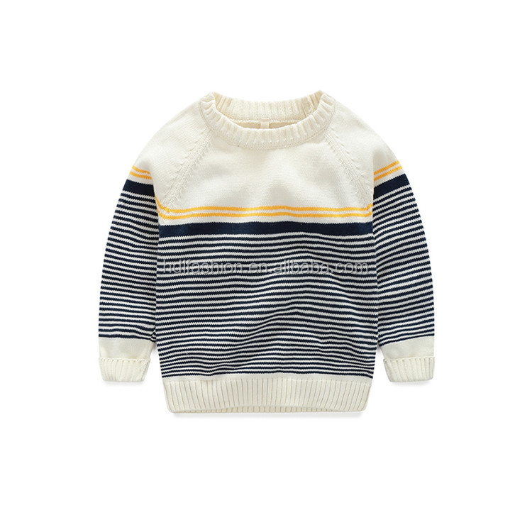 China suppliers kids plain knit long sleeve crew neck cotton fabric stripe tees
