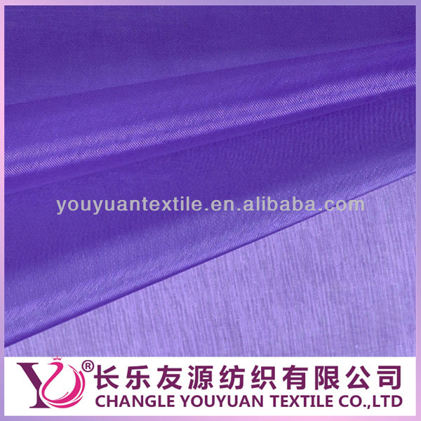 Wedding decoration polyester embroidered organza Fabric
