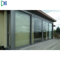 Factory Produced double track aluminum sliding door for Asia market