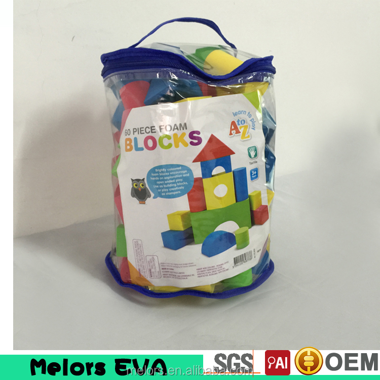 Melors 2016 Hot sell Christmas gift eva foam educational toy building bricks blocks toys for kids Building Blocks Brain Training