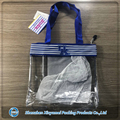 Wholesale Clear PVC Transparent Blue Tote Bag with Custom Printed Logo