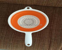 Floding Fruit Basket With Handle Plastic Round Collapsible Vegetable Basket