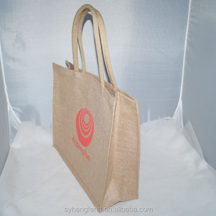 Wholesale Manufacturer Jute Tote Bag, Cheap Jute Shopping Bag, Promotional gift grocery store Foldable Jute Bag