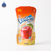 Custom straw inside stand up beverage bag fruit juice packaging material