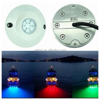 12v Changeable Colour Stainless Steel Underwater Light Wireless/RGB 60w LED Underwater Light for Boat Marine Pool