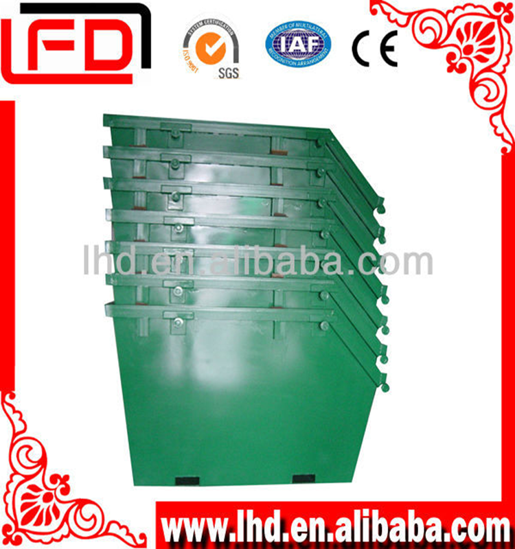 Sand steel trash bins for storing material or waster