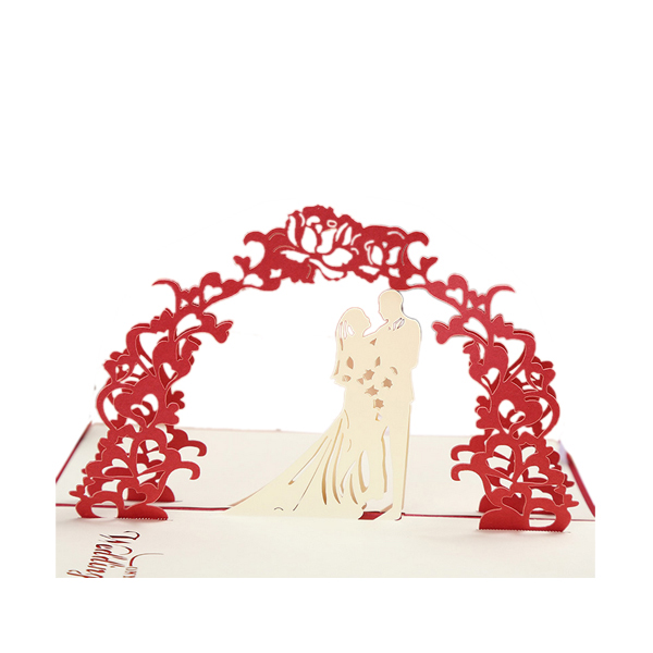 exquisite three-dimensional creative romantic marriage paper <strong>crafts</strong>, hot sales Valentine's day card
