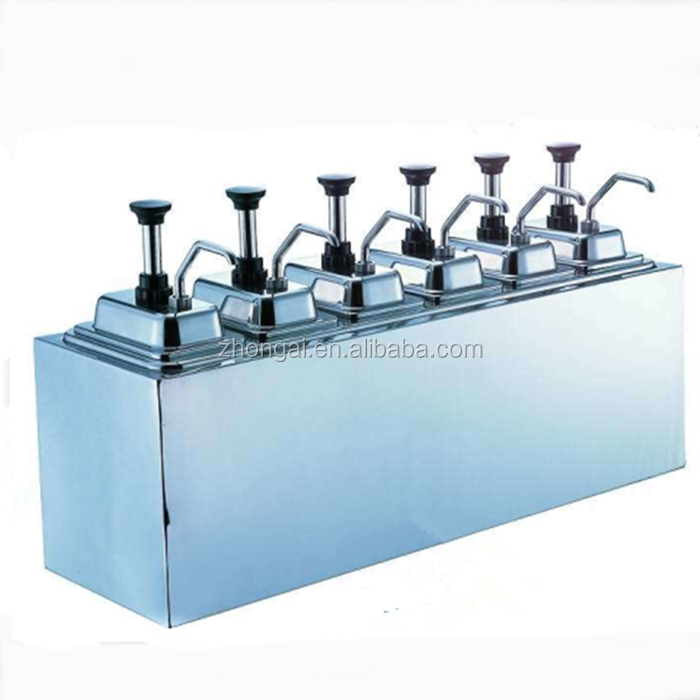 Commercial sauce dispenser pump