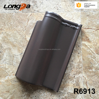 New 265x400mm french roman coffee brown clay roof tiles for sale