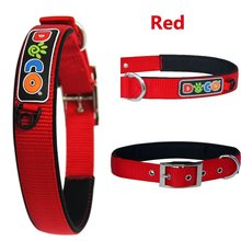 Wholesale colorful hot sale Zinc Buckle nylon collar dog Extra Large Red