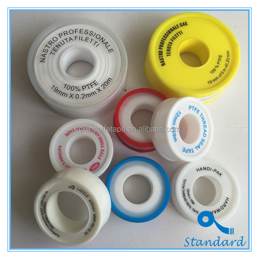 High Quality High Temperature High Pressure Gas Water Pipe Used 12mm 19mm 25mm Standard PTFE Thread Seal Tape