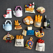 Custom food magnet resin 3d fridge magnet