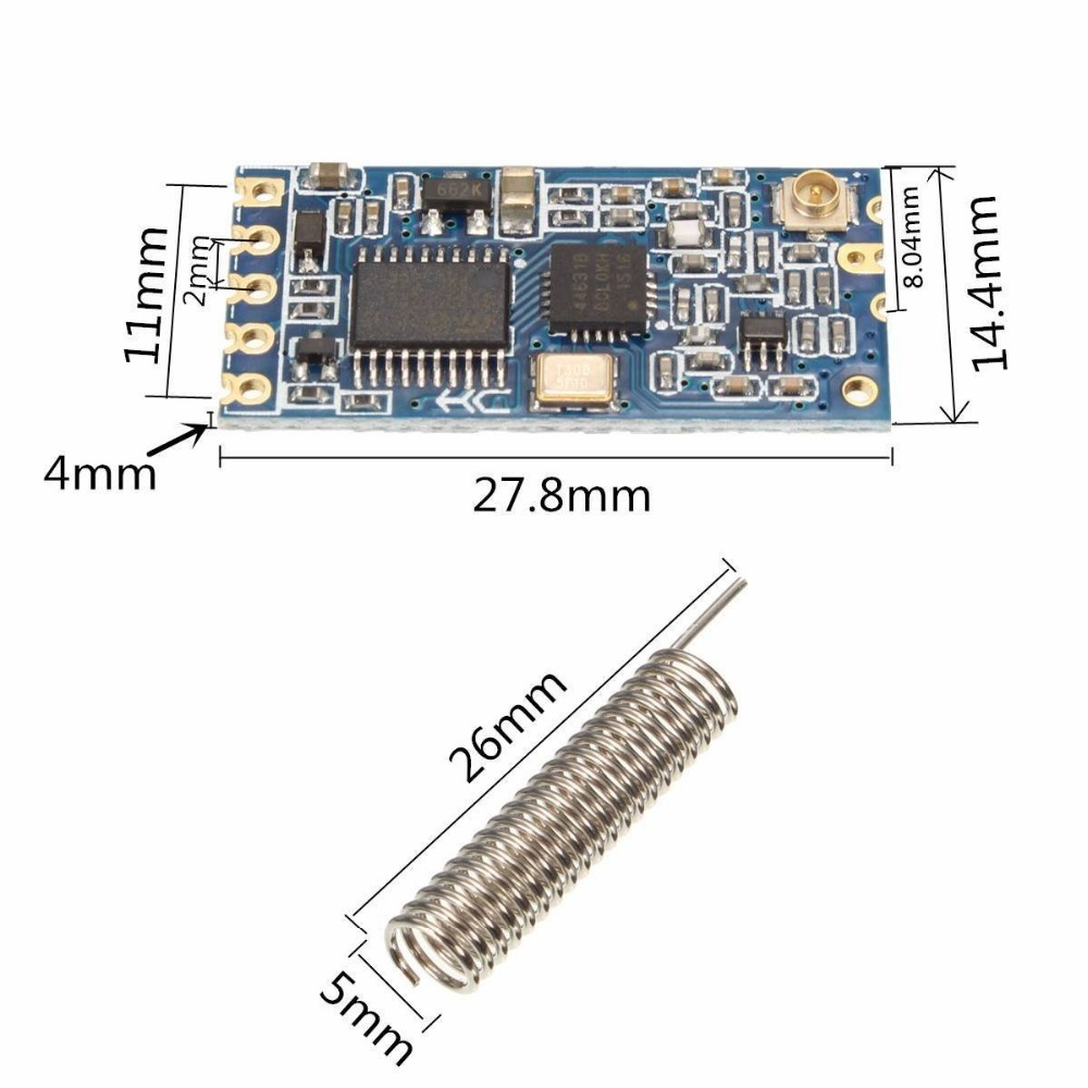 HC-12 SI4463 433Mhz Wireless Serial Port Transceiver Module HC12 with Antenna 1000M Replace Bluetooth