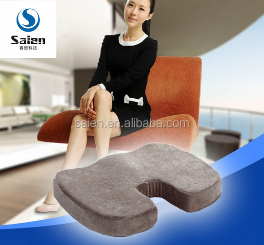 wholesale U shape coccyx cushion memory foam gel seat cushion for hemorrhoids