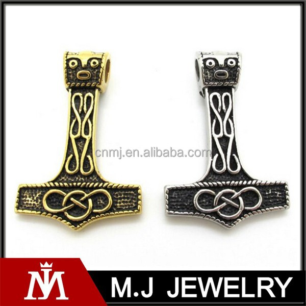 new fashion men's gold silver viking thor's hammer 316L stainless steel cool pendant