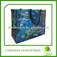 Advertisement recycled cheap china used bopp laminated eco green pp woven bag,pp woven polypropylene bag