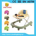 European standrad new baby walker with metal frame and musical panel and pushbar and canopy