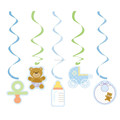 Baby Shower Party Hanging Foil Swirl Decoration with Value Pack