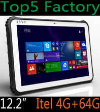 "factory cheapest original 12.2"" 4G LTE rugged industrial tablet pc with 4GB 64GB Intel OS IP65 industrial embedded PC computer"