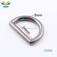 high end bag parts accessories 1 inch zinc alloy metal d ring for handbags