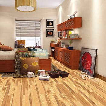 brushed big beveled easy click 12mm HDF laminate flooring China factory cheap price