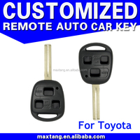3 Buttons Replacement Key Shell Fob Remote Key Shell fit for TOYOTA Yaris Avensis