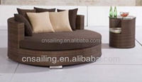 All weather rattan outdoor round lounge chairs