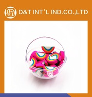 Rainbow fancy Eraser in transparent ball packing