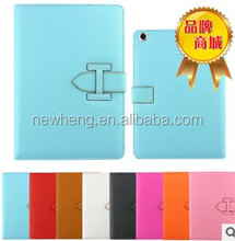 High Quality Stand leather Case with Detachable Hand Strap for iPad 2 3 4