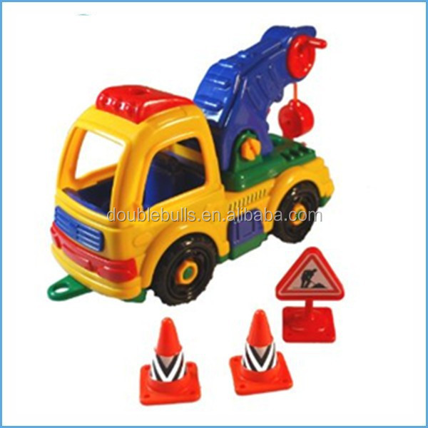 Wholesale China Manufucture Take A Part Tow Truck & Tool Box Set & motor skill toy