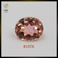 Oval cut nano gems synthetic morganite gemstone