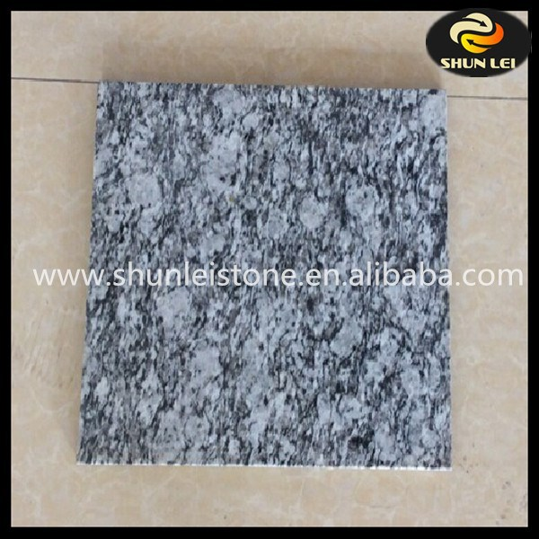 China cheap polished spray white granite tile
