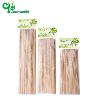 Most popular long disposable bamboo round corn food skewers