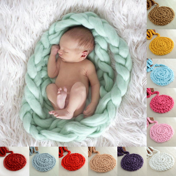 2017 Alibaba Wholesale Hot selling hand made 100% Merino Wool blanket chunky yarn knit Blanket for <strong>baby</strong>