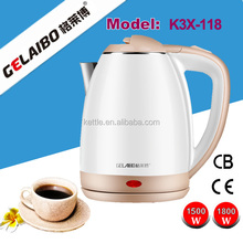 220V Stainless steel cordless 500ml mini stainless steel electric travel kettle