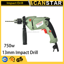 CANSTAR power tool hand machine high quality and cheap prices 750w 13mm electric impact drill