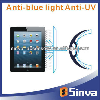 Factory Free Sample, Anti Blue Light Anti UV Screen Protector for ipad5