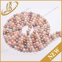 Factory wholesale round new colored real freshwater pearl jewelry