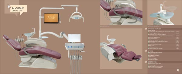 Computer Controlled Environment leather FDA CE Anle Dental Chair