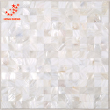 China supplier white square mosaic tile raw mother of pearl shells for wall